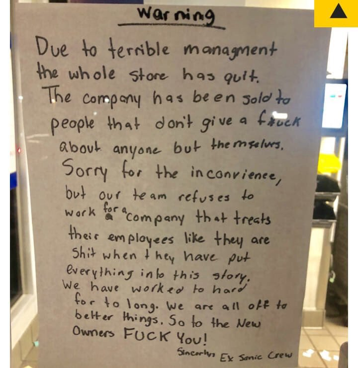 terrible management
