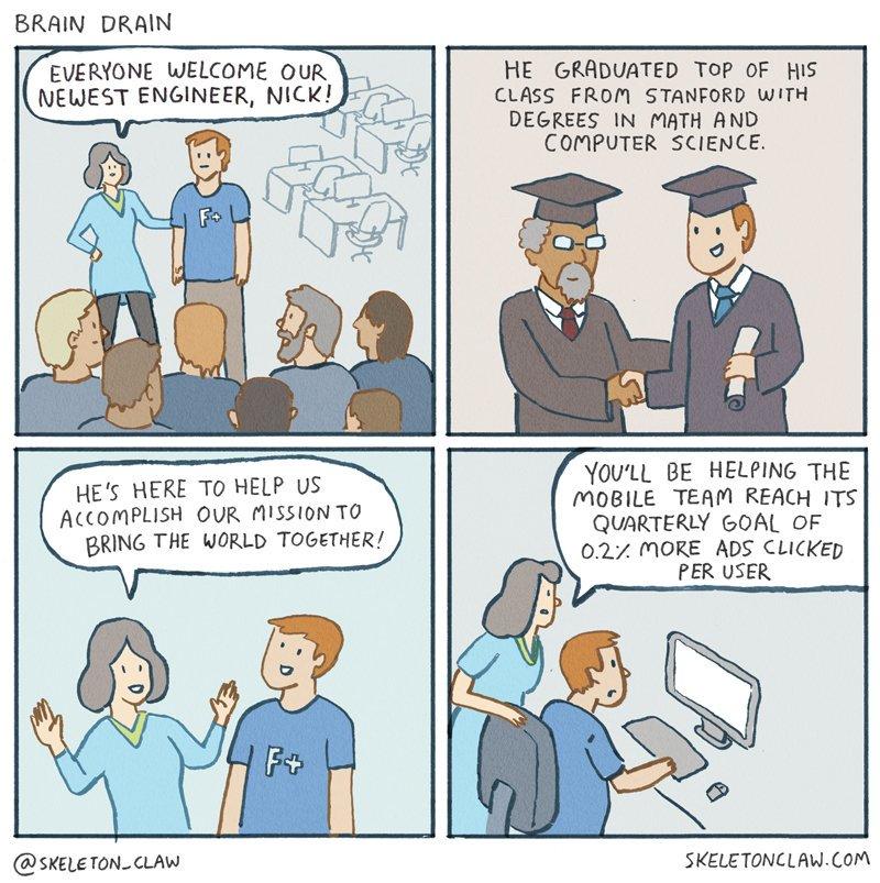 Mathe Studium und dann in der Werbung arbeiten ...