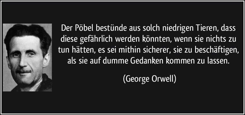 Poebel-Zitat von Orwell