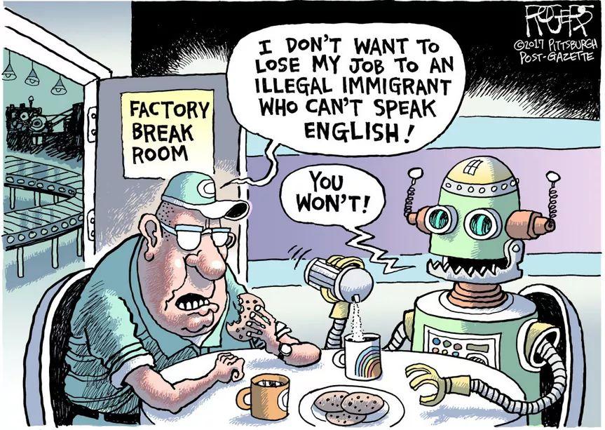 Migranten Roboter